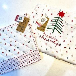 Other - BNWT Christmas apron and pot holder